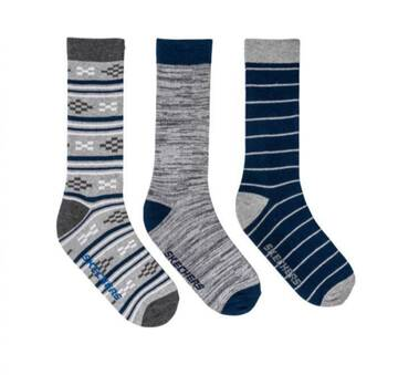Men's 3 Pack Crew Socks (Fits US 6-12)