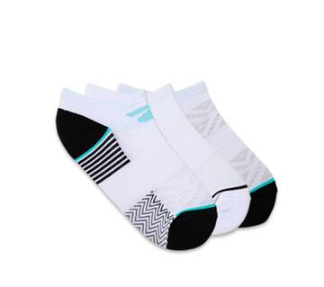 Women's 3 Pack 1/2 Terry Low Cut Socks (Fits US 5-9.5 Shoe)